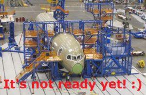 It is not ready yet!