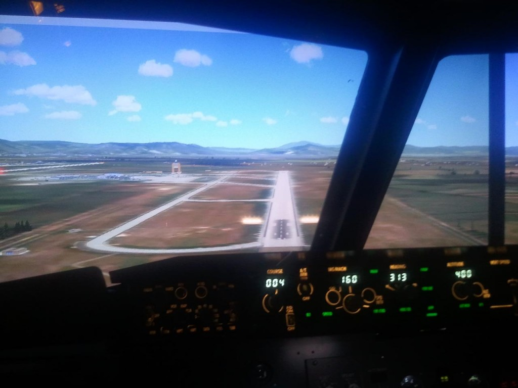 Our B-737 NG simulator in Vienna