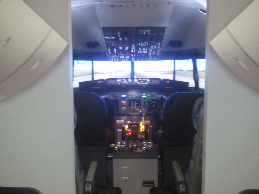 Our B-737 NG Simulator in Budapest